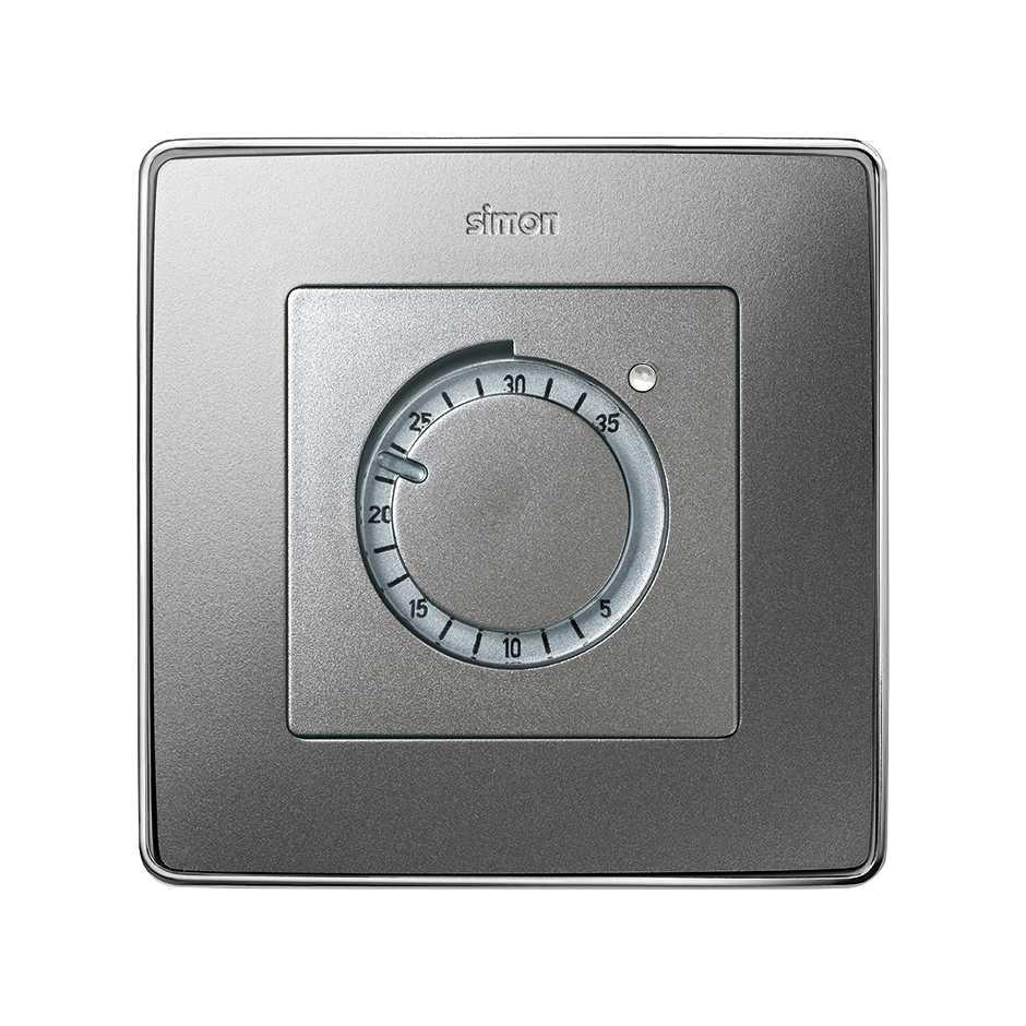 Placa para termostato de calefacci n aluminio fr o simon - Termostato para calefaccion ...