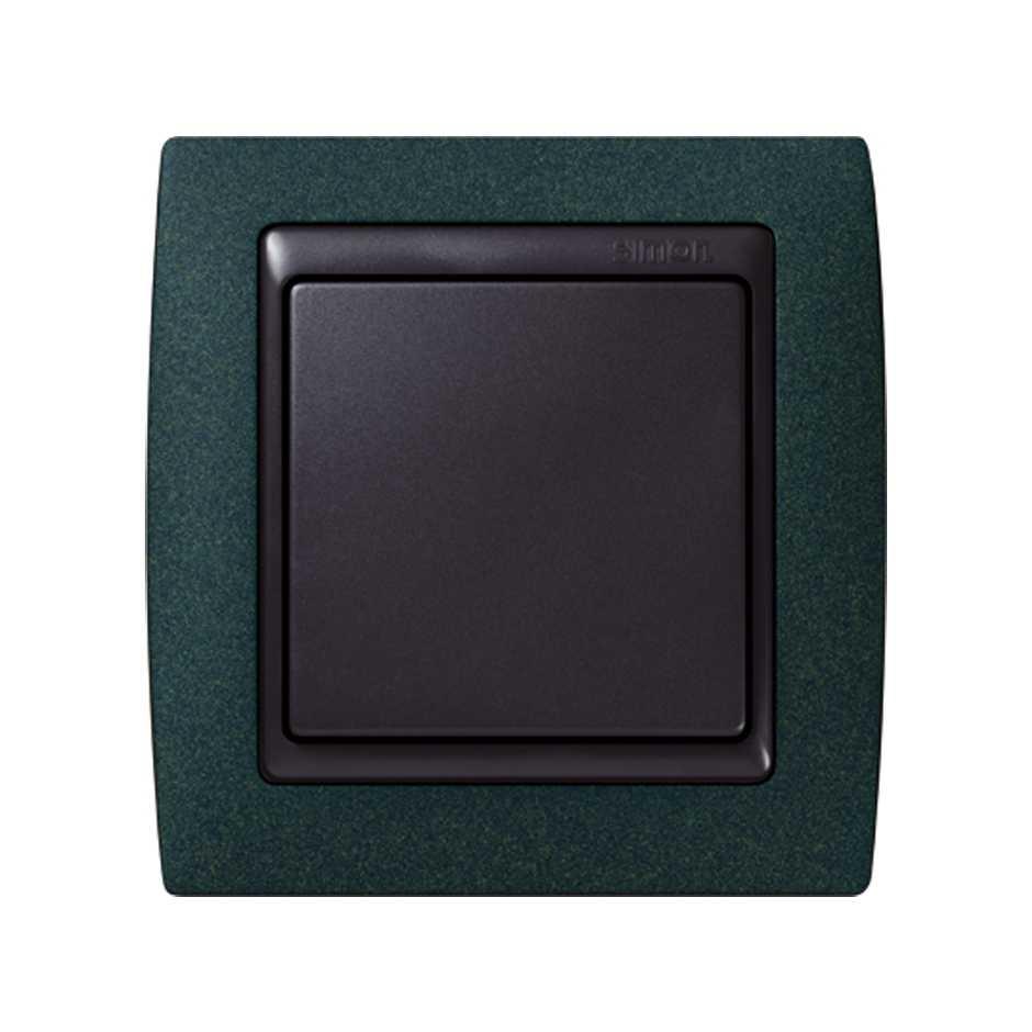 Marco para 1 elemento verde textura interior grafito Simon 82 | SIMON