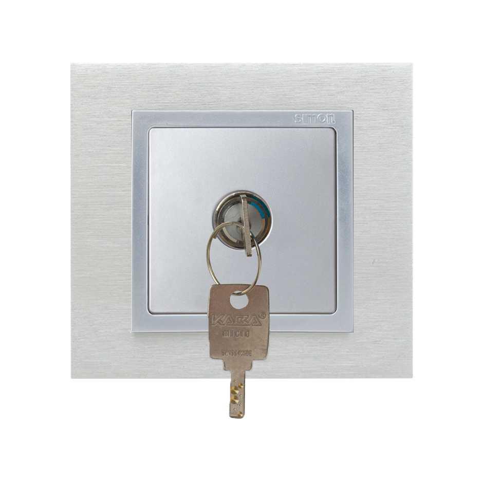 2 Way Switch With Key 5a 250v Positions Removable In Both Flush Function Solucion Conmutador Con Llave Posiciones Aluminio Simon