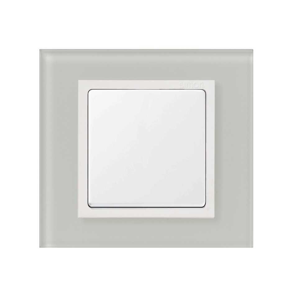 Marco para 1 elemento cristal natural interior blanco Simon 82 ...