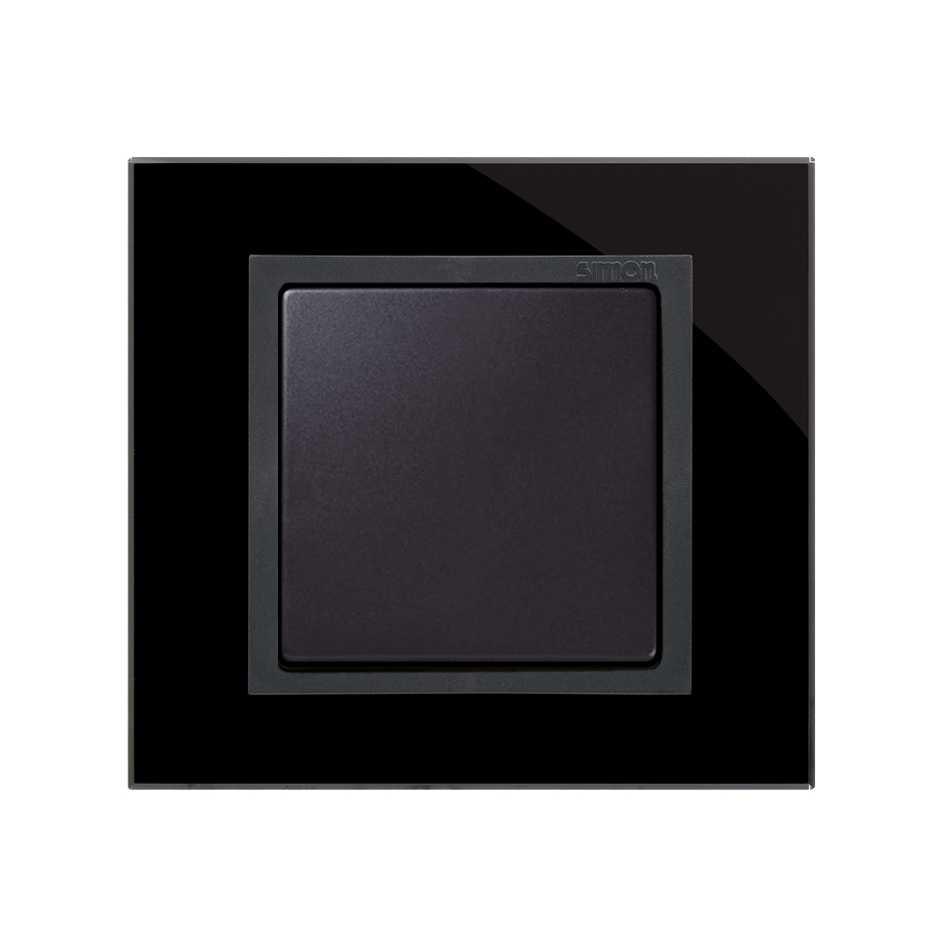 Marco para 1 elemento cristal negro interior grafito Simon 82 Nature ...
