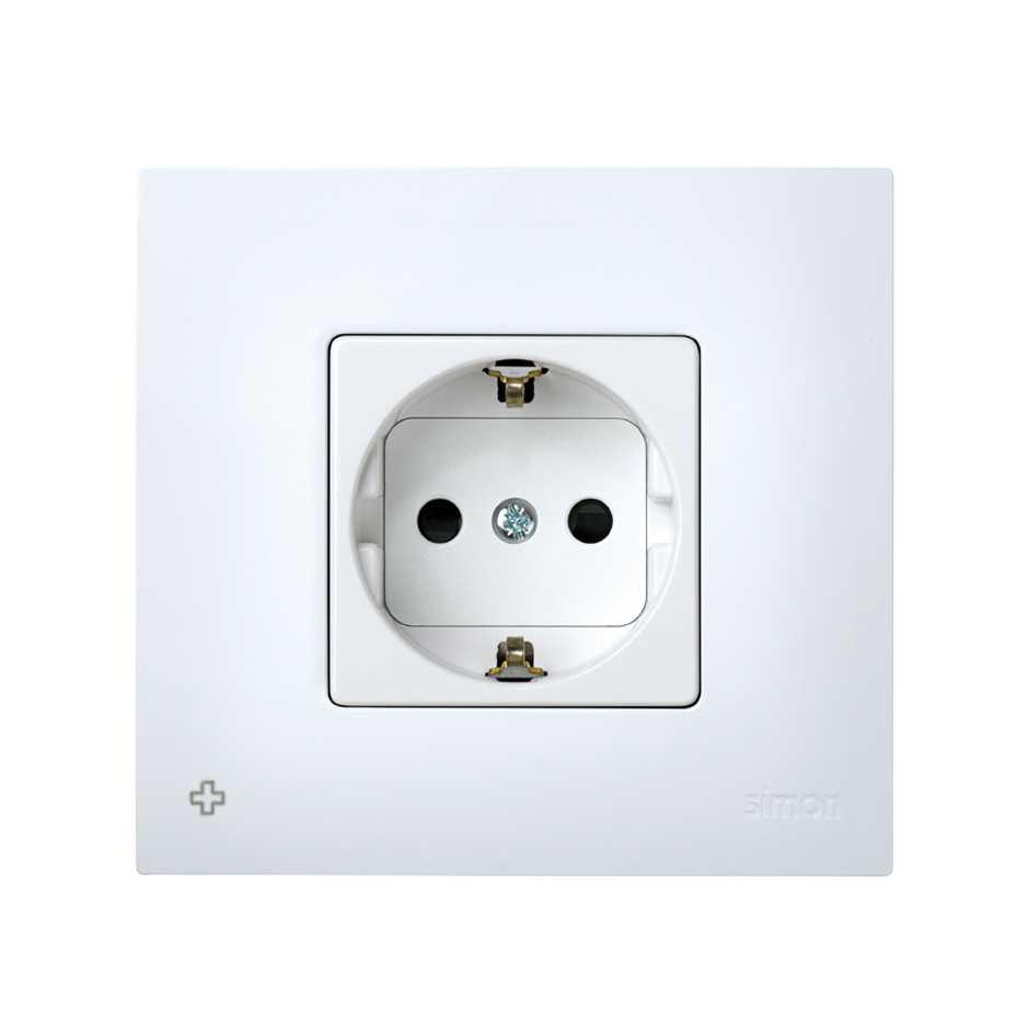 rasante de uso Protectora Serie G1/Color Blanco /All-in-One/ Up enchufe con tapa/ /Marco