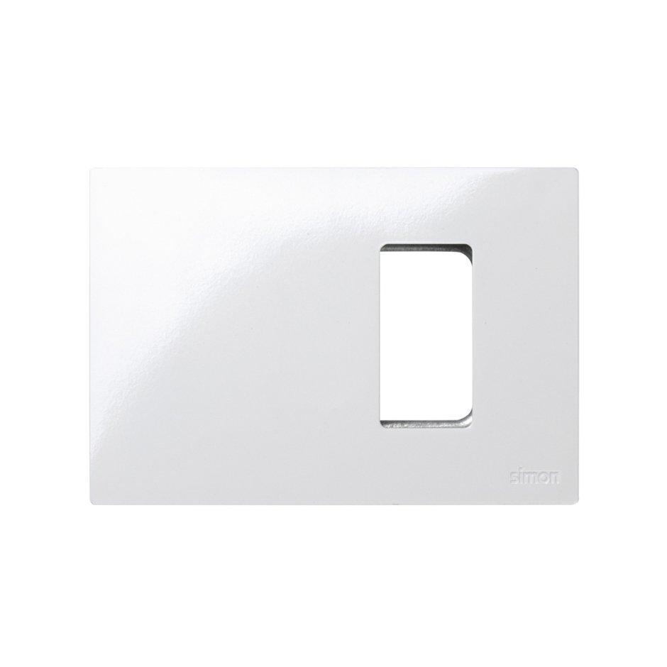 Marco de 1 medio elemento blanco con bastidor para caja americana ...