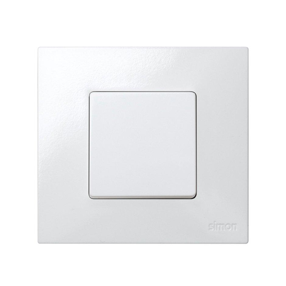 Base para caja pared de superficie para 1 elemento blanco Simon 27 ...