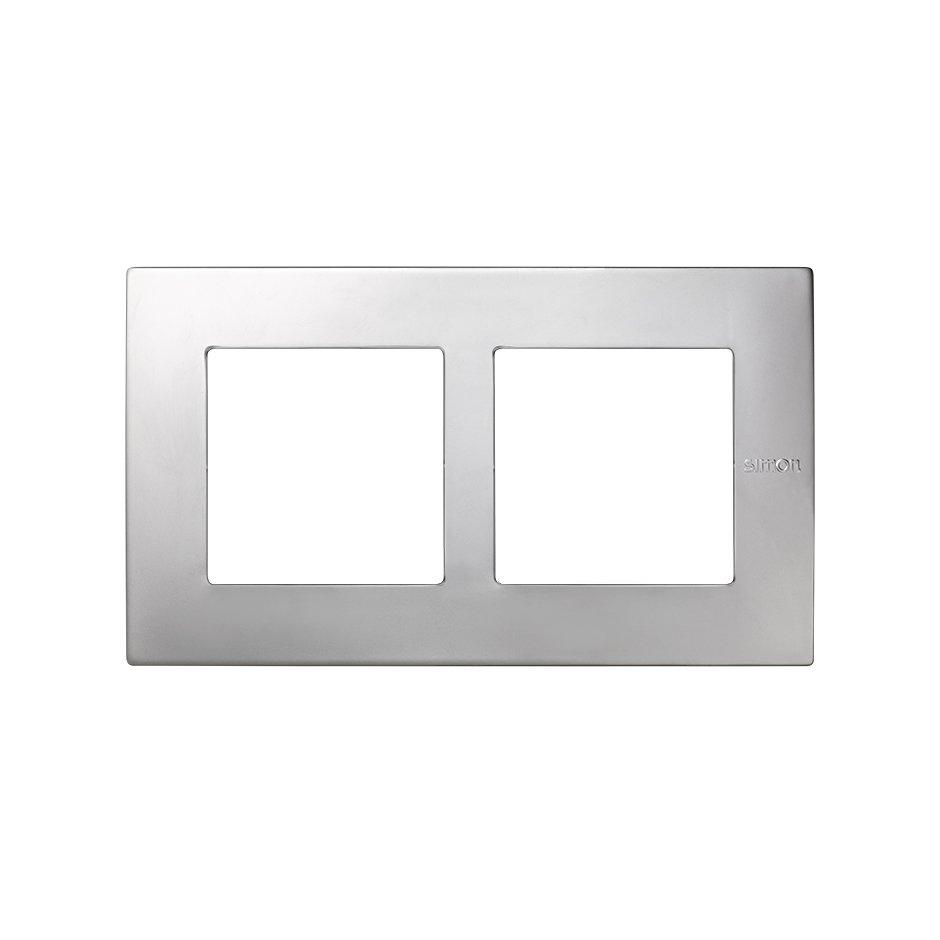 Frame for 2 elements aluminium Simon 27 Scudo   SIMON