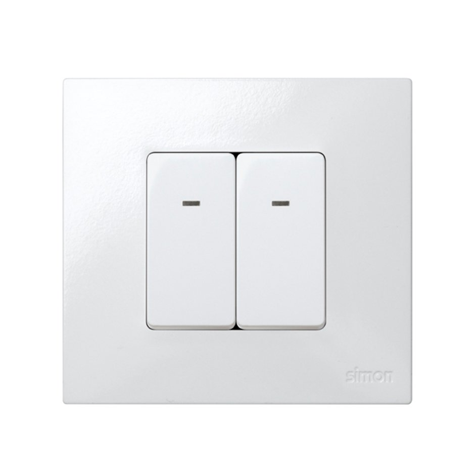 Double Pole Switch 16ax 250v For Half Element With Pilot Light And Switches Solucion Interruptor Piloto Doble Blanco Simon 27 Play