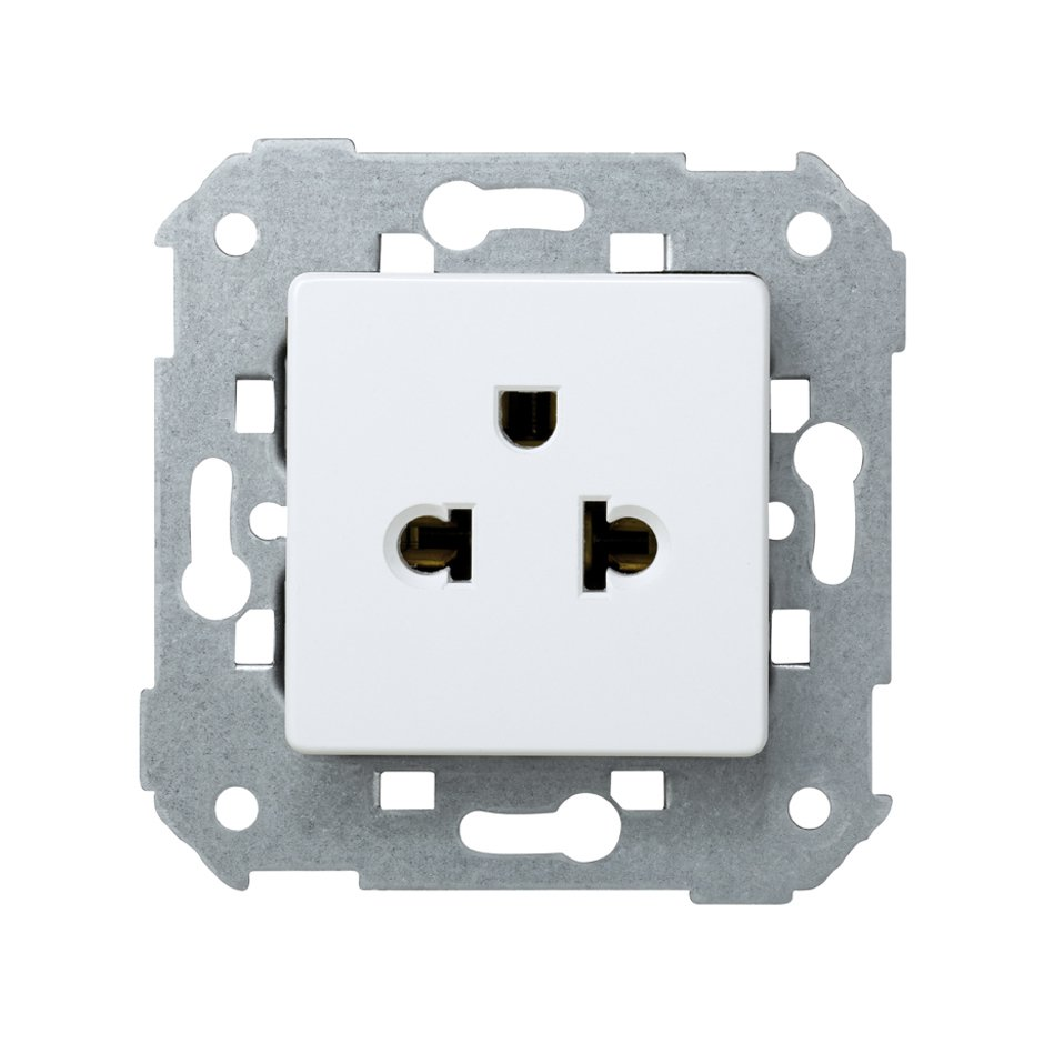 Combined two-pole socket (European/American) 16A 250V~ with