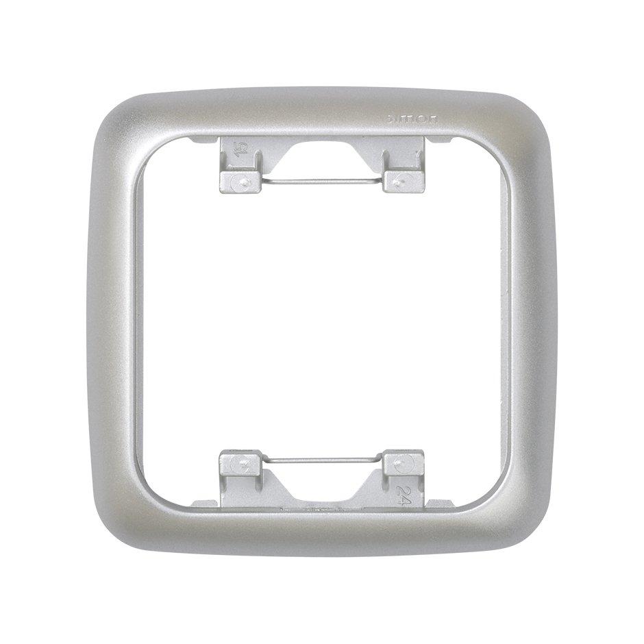 Thermoplastic frame for 1 element aluminium Simon 31   SIMON