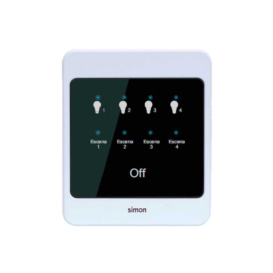 Touch LightKeypad button box 8 functions (4 channels and 4 scenarios