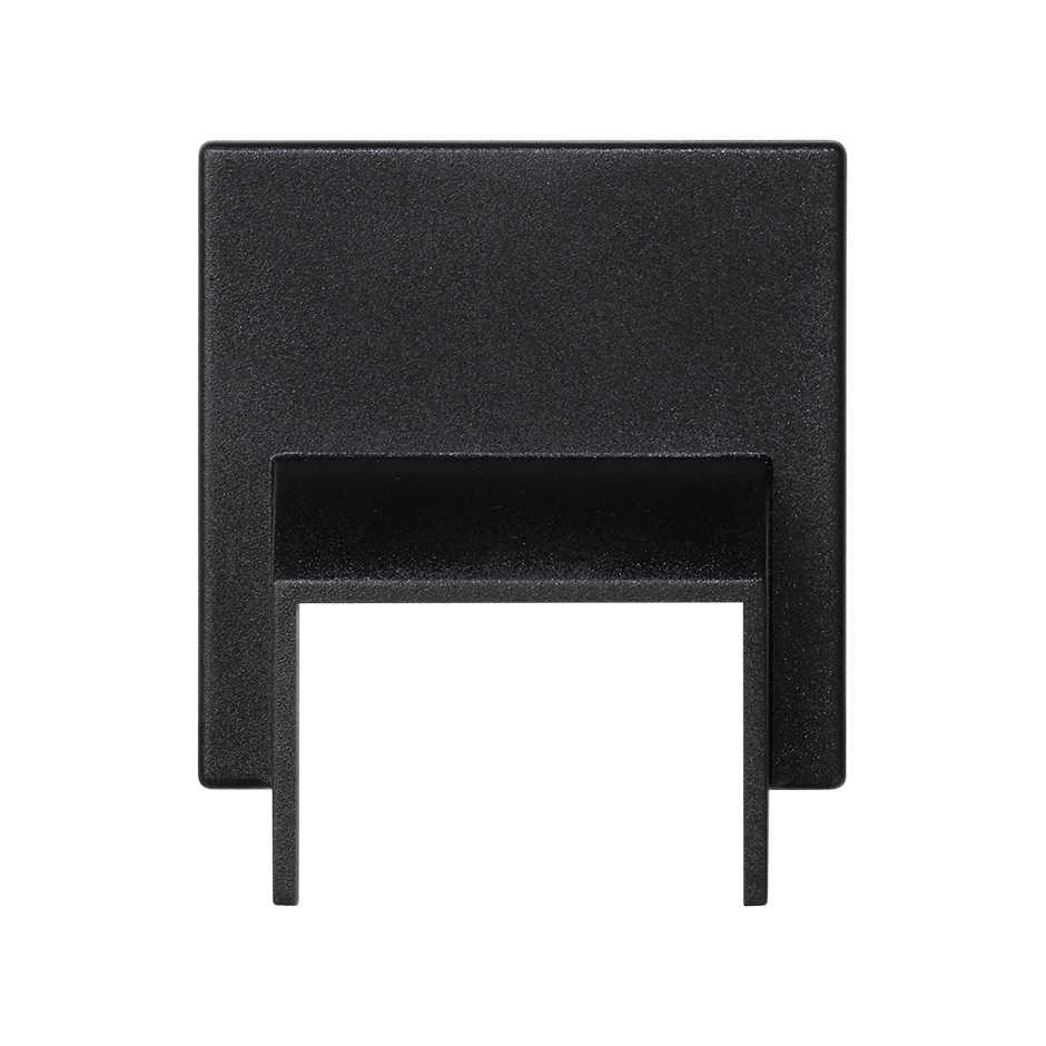 Goulotte Pour Plafond plaque d'entrée de goulotte 20x30 mm pour 1 élément graphite