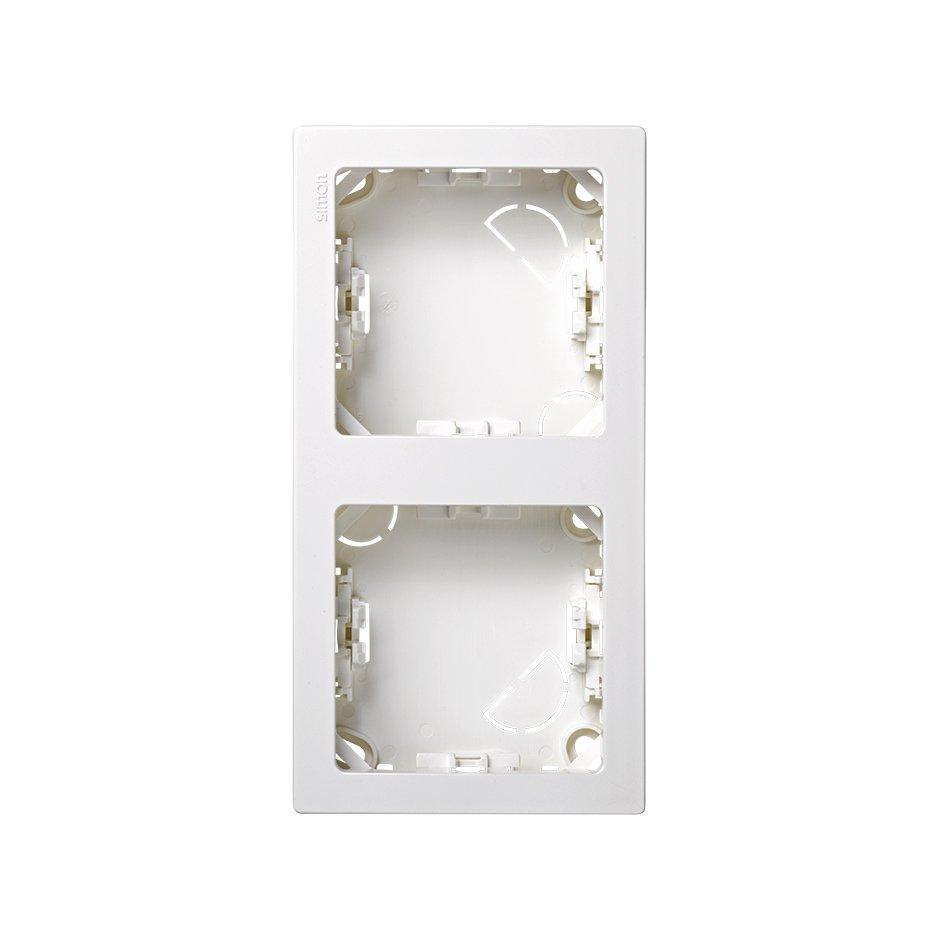 Marco con base para 2 elementos vertical blanco Simon 73 Loft | SIMON