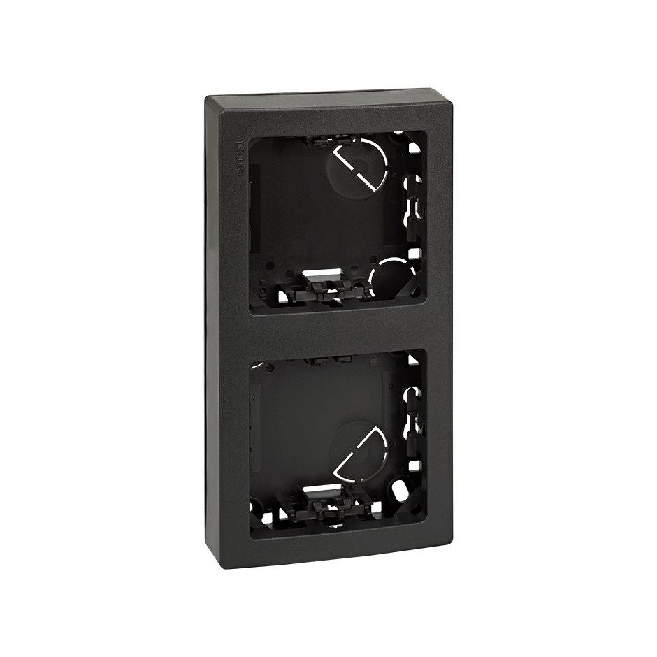 Frame with base for 2 elements vertical graphite Simon 73 Loft | SIMON