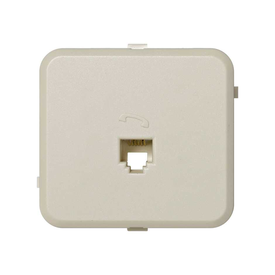Telephone Socket With 6 Pins Rj12 Built In Plate Ivory Simon 73 Wiring Wall 73481 31 Toma Telefonica Contactos Placa