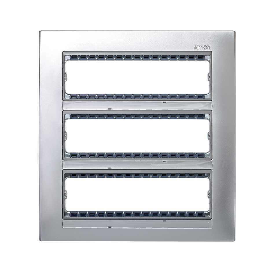 Marco con bastidor de 3 filas para 12 elementos aluminio Simon 82 ...