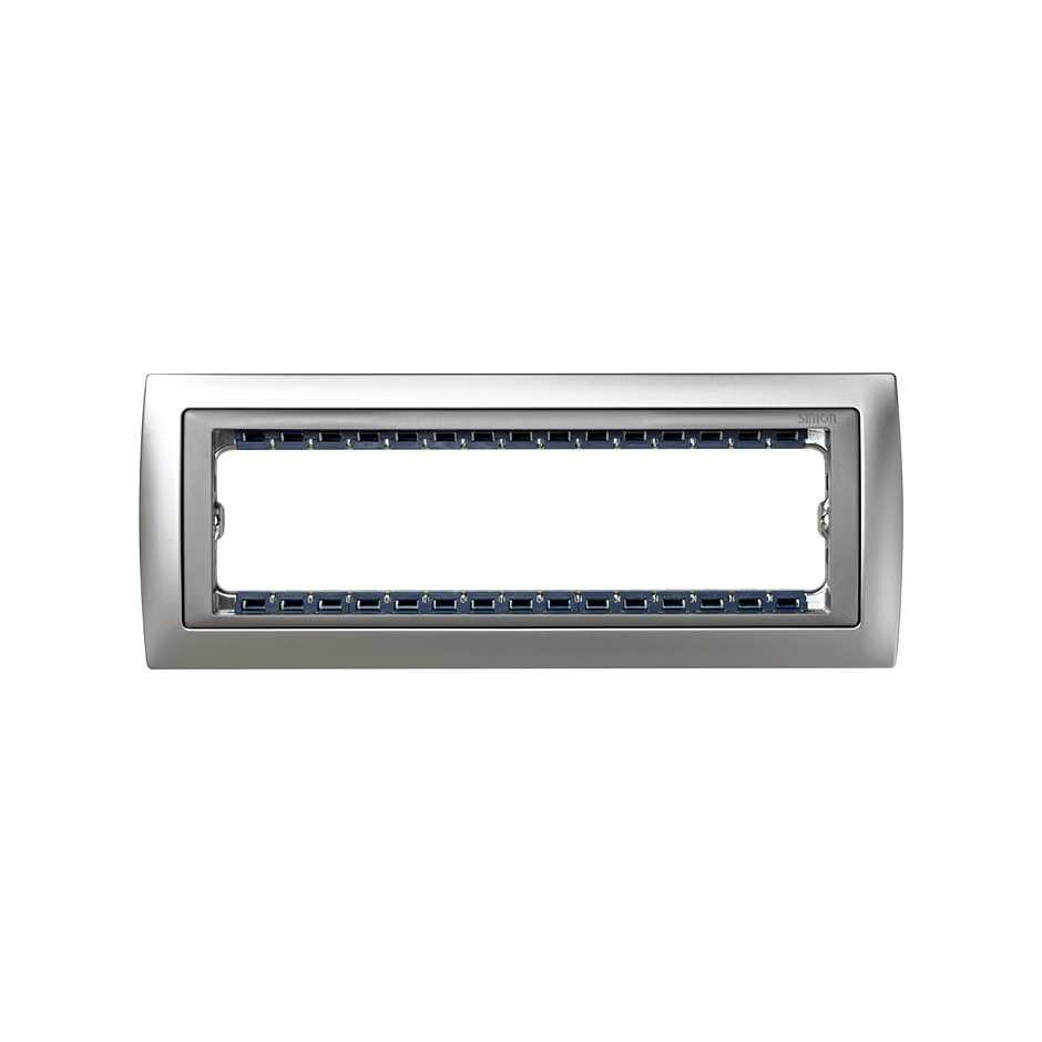 Marco de 4 elementos con bastidor de 1 fila aluminio mate interior ...
