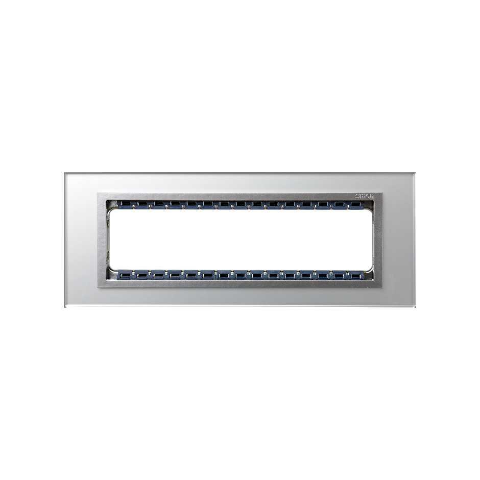 Marco de 4 elementos con bastidor de 1 fila cristal plata interior ...