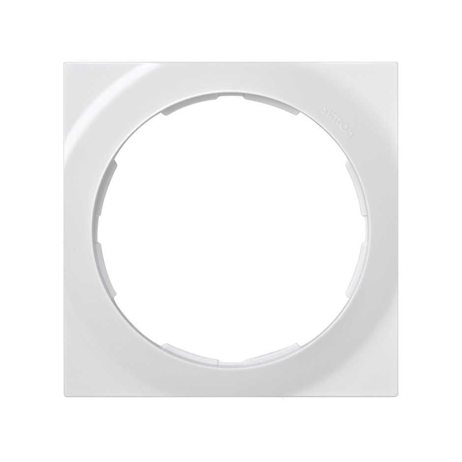 Marco cuadrado para 1 elemento blanco Simon 88 | SIMON