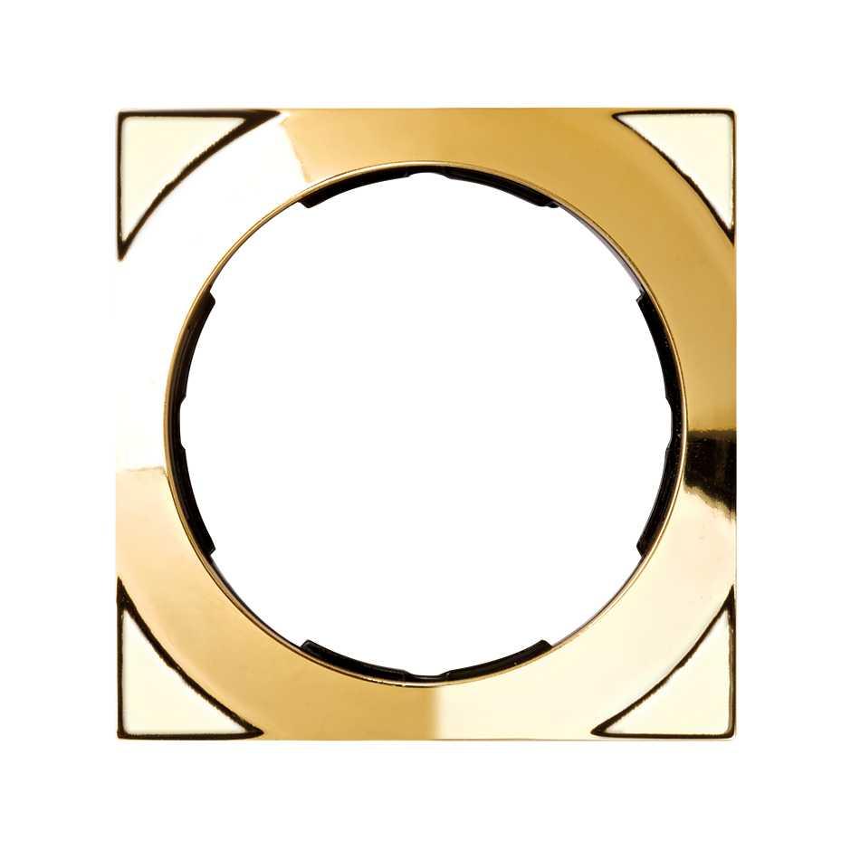 Marco cuadrado para 1 elemento oro Simon 88 | SIMON