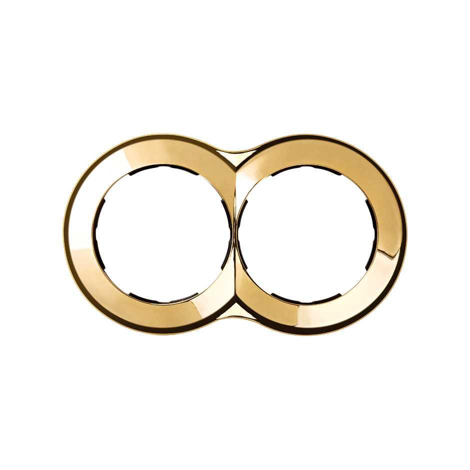 Marco redondo para 2 elementos oro Simon 88 | SIMON