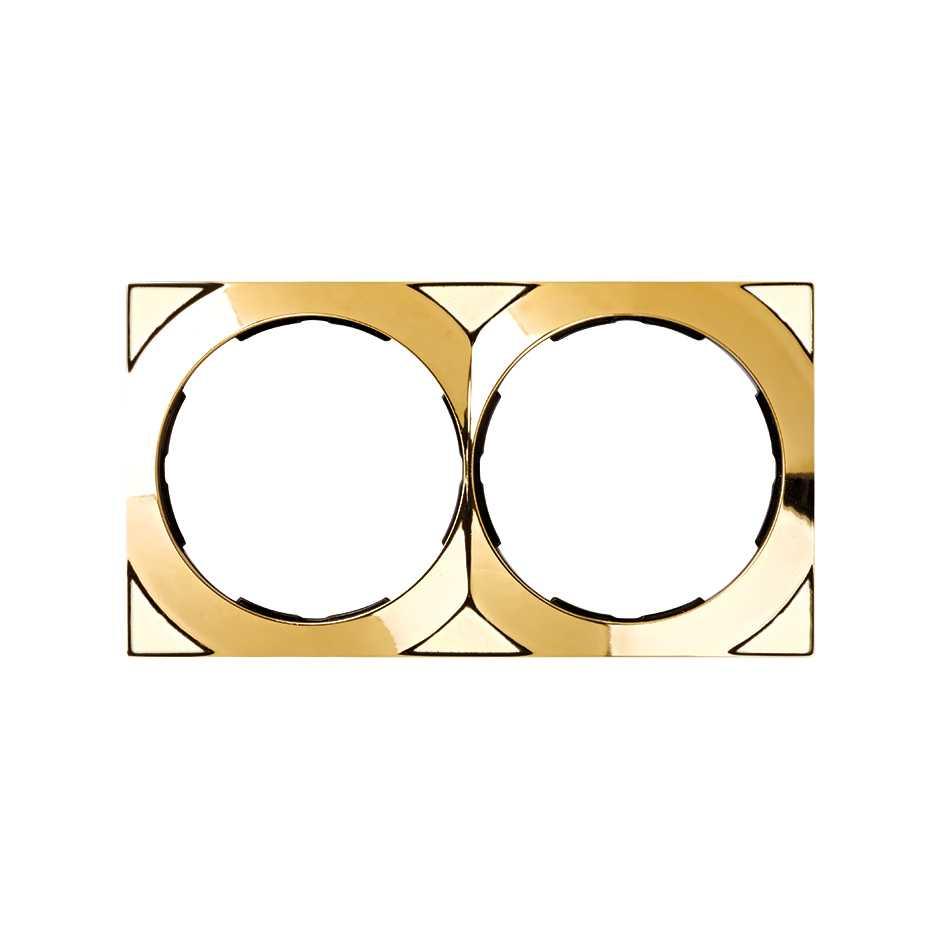 Marco cuadrado para 2 elementos oro Simon 88 | SIMON