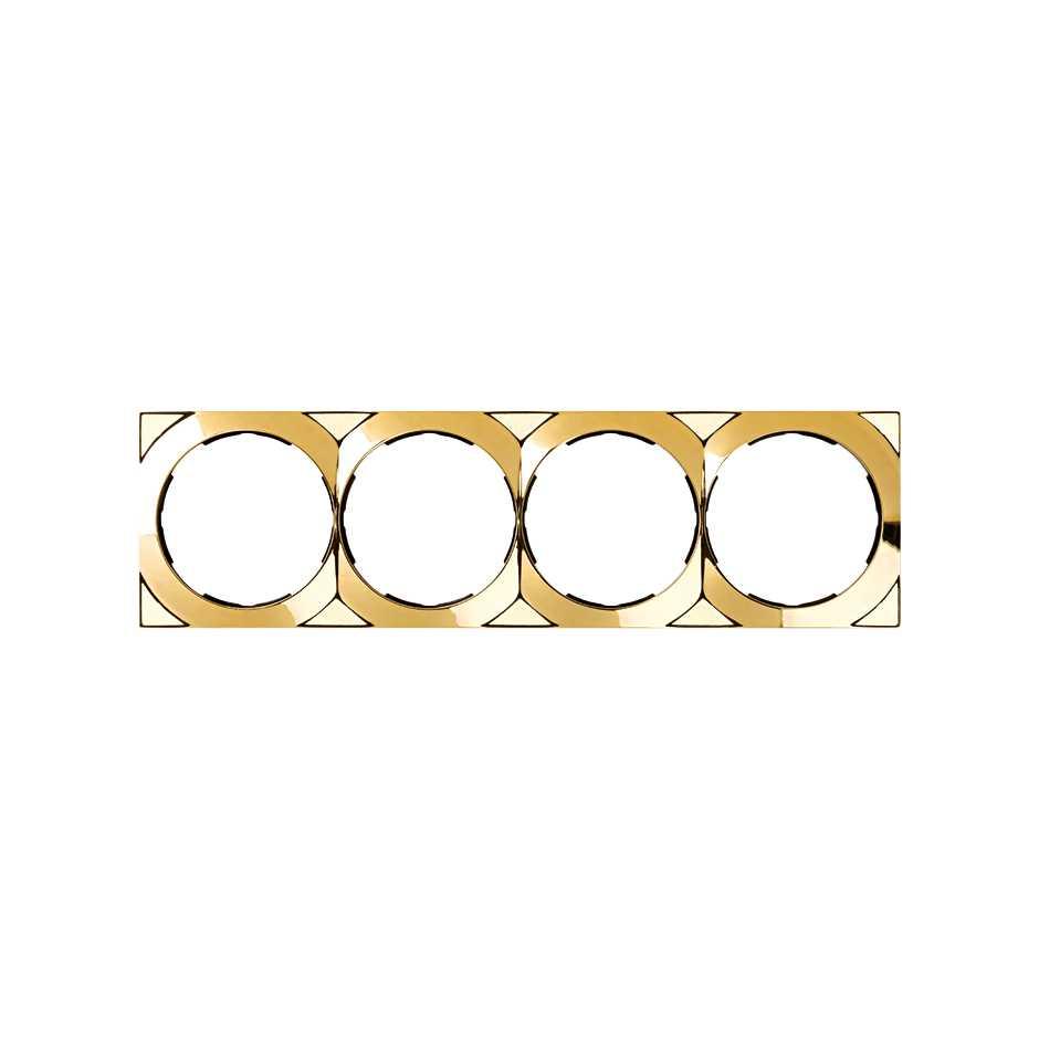 Marco cuadrado para 4 elementos oro Simon 88 | SIMON