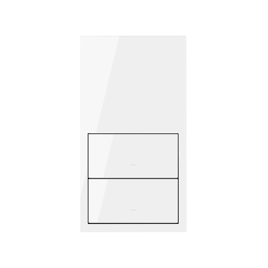 Referencia: 10020101-138 Kit front horizontal para 1 elemento con 1 tecla blanco brillante Simon 100