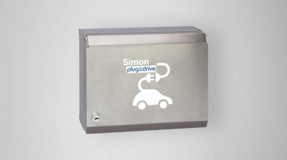 wallbox metalica simon