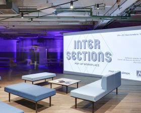 Pop-up workplace Intersections creado en el Espacio Simon 100