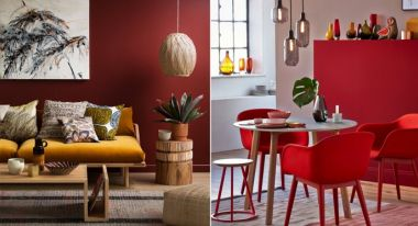 Decoration le rouge